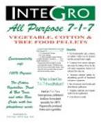 INTEGRO ALL PURPOSE 7-1-7 VEGETABLE, COTTON & TREE FOOD PELLETS
