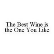 THE BEST WINE IS THE ONE YOU LIKE