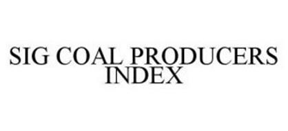SIG COAL PRODUCERS INDEX