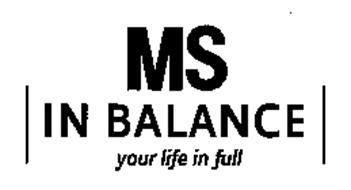 MS IN BALANCE YOUR LIFE IN FULL