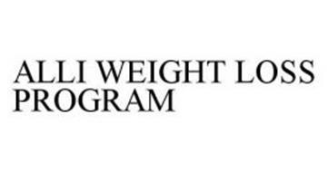 ALLI WEIGHT LOSS PROGRAM