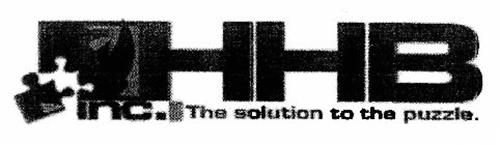 HHB INC.  THE SOLUTION TO THE PUZZLE.