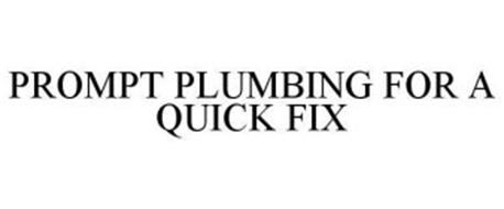 PROMPT PLUMBING FOR A QUICK FIX