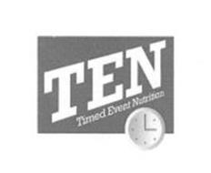 TEN TIMED EVENT NUTRITION