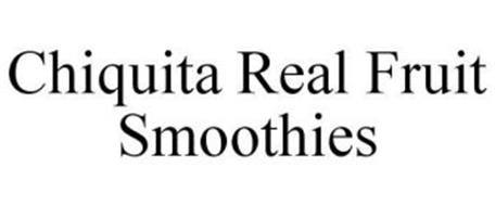 CHIQUITA REAL FRUIT SMOOTHIES