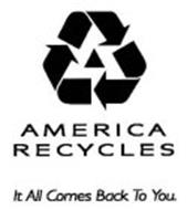 AMERICA RECYCLES IT ALL COMES BACK TO YOU.