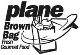 PLANE BROWN BAG FRESH GOURMET FOOD