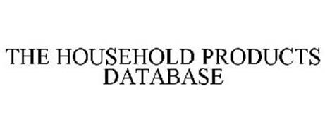 THE HOUSEHOLD PRODUCTS DATABASE