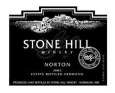 SH STONE HILL WINERY NORTON 2002 ESTATE BOTTLED HERMANN STONE HILL WINERY SH ESTABLISHED 1847 & DESIGN