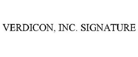 VERDICON, INC. SIGNATURE