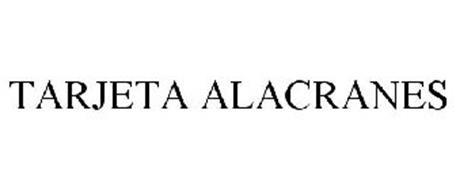 TARJETA ALACRANES