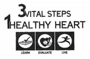 3 VITAL STEPS 1 HEALTHY HEART LEARN EVALUATE LIVE