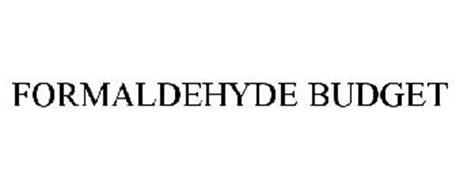 FORMALDEHYDE BUDGET