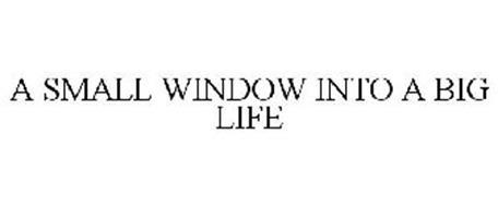 A SMALL WINDOW INTO A BIG LIFE