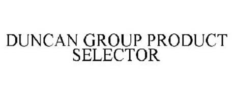 DUNCAN GROUP PRODUCT SELECTOR