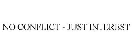 NO CONFLICT - JUST INTEREST