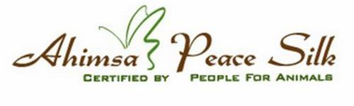 AHIMSA PEACE SILK CERTIFIED BY PEOPLE FOR ANIMALS