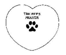 THE PET'S PRAYER