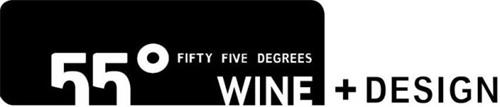 55° FIFTY FIVE DEGREES WINE + DESIGN