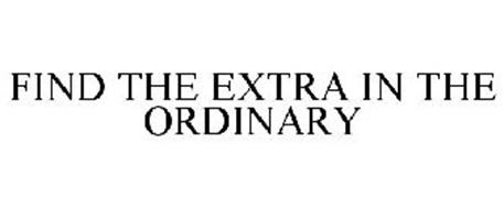 FIND THE EXTRA IN THE ORDINARY