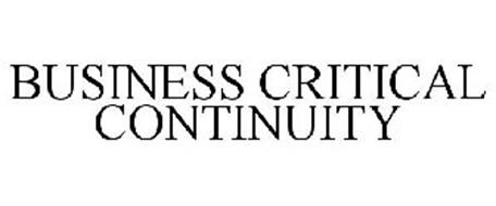 BUSINESS CRITICAL CONTINUITY