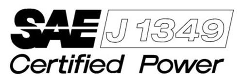 SAE J1349 CERTIFIED POWER