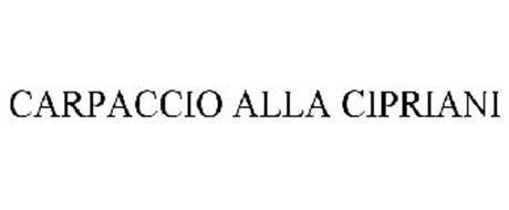 CARPACCIO ALLA CIPRIANI