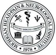 MICHIGAN HEAD · PAIN & NEUROLOGICAL INSTITUTE · EXPERIENCE · KNOWLEDGE · COMMITTMENT · 1978 ·