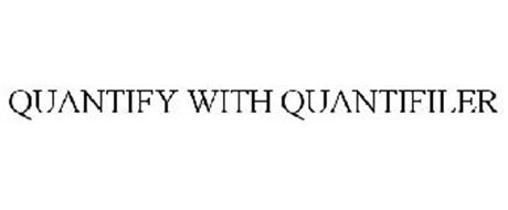 QUANTIFY WITH QUANTIFILER