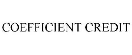 COEFFICIENT CREDIT