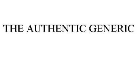 THE AUTHENTIC GENERIC