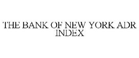 THE BANK OF NEW YORK ADR INDEX