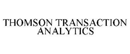 THOMSON TRANSACTION ANALYTICS