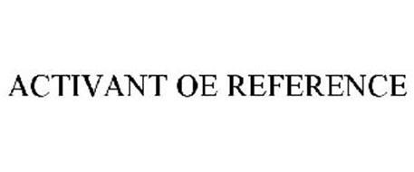 ACTIVANT OE REFERENCE