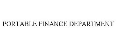PORTABLE FINANCE DEPARTMENT