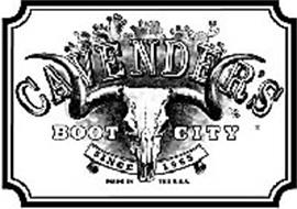CAVENDER'S BOOT CITY SINCE 1965 MADE IN THE U.S.A.