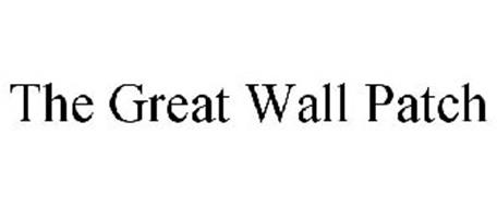 THE GREAT WALL PATCH