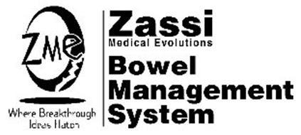 ZME WHERE BREAKTHROUGH IDEAS HATCH ZASSI MEDICAL EVOLUTIONS BOWEL MANAGEMENT SYSTEM
