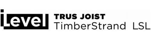 ILEVEL TRUS JOIST TIMBERSTRAND LSL