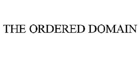 THE ORDERED DOMAIN