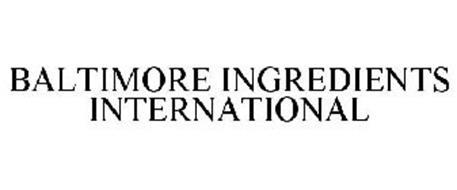 BALTIMORE INGREDIENTS INTERNATIONAL