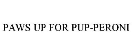 PAWS UP FOR PUP-PERONI