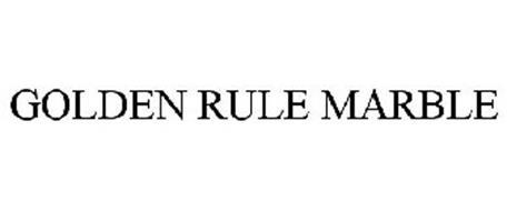 GOLDEN RULE MARBLE