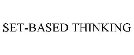 SET-BASED THINKING