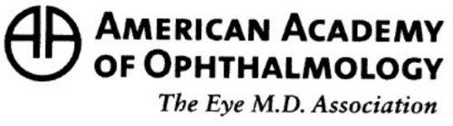 AAO AMERICAN ACADEMY OF OPHTHALMOLOGY THE EYE M.D. ASSOCIATION