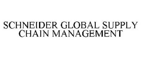 SCHNEIDER GLOBAL SUPPLY CHAIN MANAGEMENT