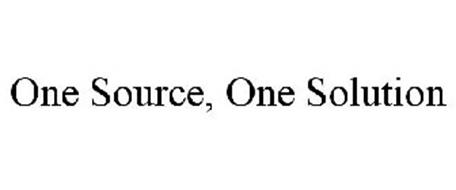 ONE SOURCE, ONE SOLUTION