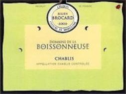JULIEN BROCARD CHABLIS CULTURE IN BIODYNAMIC DOMAINE DE LA BOISSONNEUSE CHABLIS APPELLATION CHABLIS CONTROLLE PRODUCT DE FRANCE