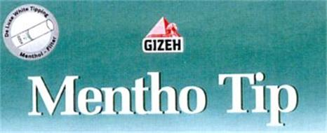 GIZEH MENTHO TIP DELUXE WHITE TIPPING MENTHOL-FILTER
