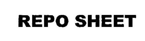 REPO SHEET